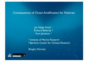Consequences of Ocean Acidification for Fisheries - SCOR