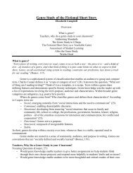 Genre Study of the Fictional Short Story - SUNY Cortland