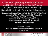 The COPE/Healthy Lifestyles TEEN Program for Overweight/Obese ...