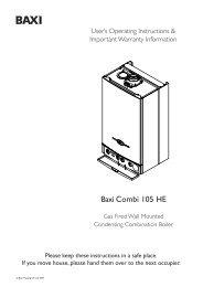 Baxi Combi 105 HE - KP Evans