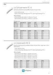 Produktsortiment 2010 LK Golvvärme - LK Systems AB