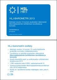 HLJ-barometri, keskeiset tulokset - HSL