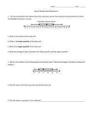 Interpreting Box And Whisker Plots Worksheet Bw2