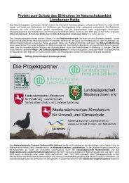 Projekt zum Schutz des Birkhuhns im Naturschutzgebiet Lüneburger ...