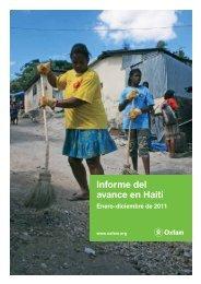 Informe del avance en Haití - Oxfam International