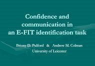 Confidence and communication in an E-FIT identification task