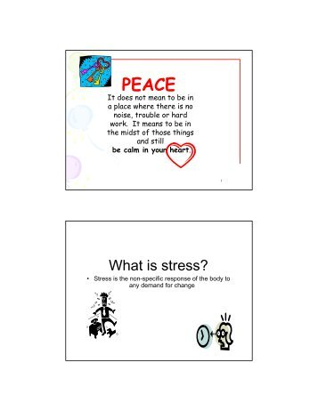 What is stress? - Family Housing Fund