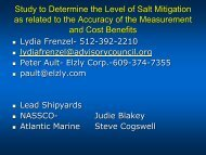 Study to Determine the Level of Salt Mitigation as related to ... - NSRP