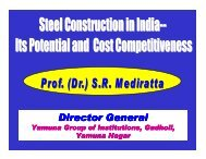 Steel Construction in India, its Potential and Cost ... - IIM