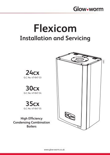 Flexicom cx combination boiler - installation and service manual
