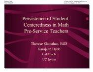Student-Centered - The UTeach Institute