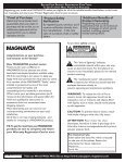 User Manual 26MD/32MD251D LCD TV WITH DVD ... - Magnavox - Page 2