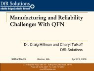 Manufacturing And Reliability Challenges With QFN - SMTA