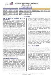 Décembre 2010 - Efigest Asset Management