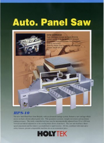 auto panel saw (hps-5, 8, 10, 12, 15) - Woodtech