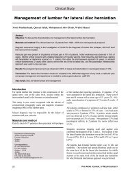 Management of lumbar far lateral disc herniation - Pan Arab ...