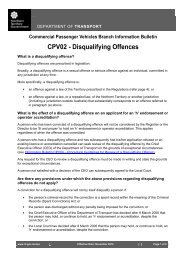Information Bulletin CPV02 - Disqualifying Offences - Department of ...