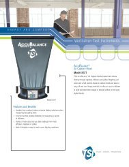 AccuBalance Air Capture Hood Model 8371 - TSI