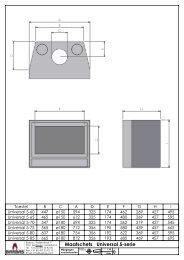 Tekening Barbas Universal 5 60 -65 - 70 - UwKachel