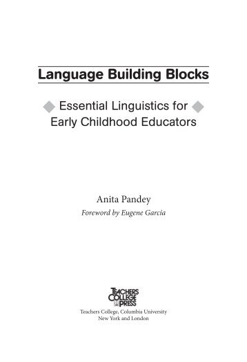 Language Building Blocks - Teachers College Press