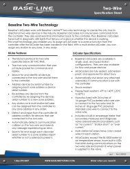 Two-Wire Specification Sheet - Baseline Systems