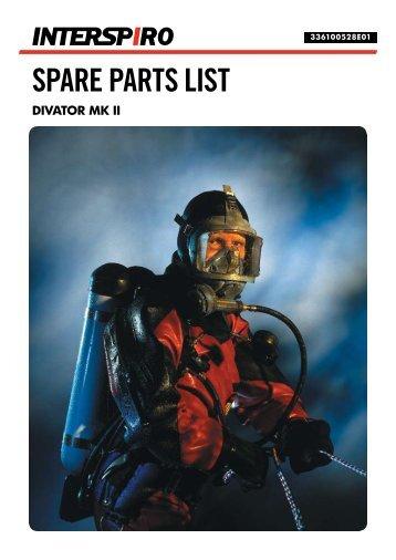 SPARE PARTS LIST - Sublight Technology AB