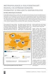 metropolizace a polycentrický rozvoj ve střední evropě - Ústav ...