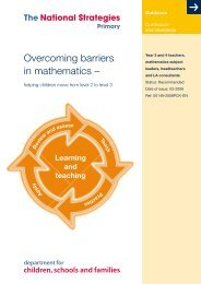 Overcoming barriers in mathematics - helping children move from ...