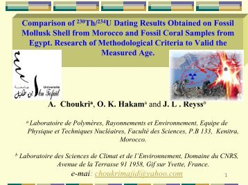 compare the two methods of dating fossils Dating techniques are procedures used by scientists to determine the age of an object or a series of events the two main types of dating methods are relative and absolute relative dating methods are used to determine only if one sample is older or younger than another absolute dating methods are used to determine an actual date in years for.