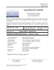 AIR OPERATING PERMIT Glacier Bay Catamarans - Puget Sound ...