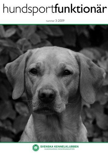 Hundsport funktionär 3-2009 - Svenska Kennelklubben