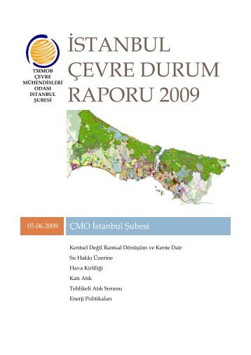 istanbul çevre durum raporu 2009 - Çevre Mühendisleri Odası