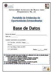 Portafolio de Tercera y Quinta Oportunidad de ... - Preparatoria 22