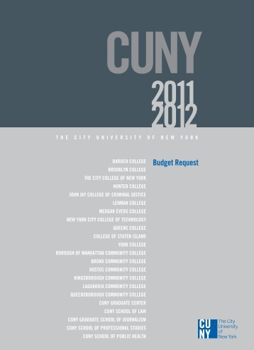 FY 2011-2012 Budget Request - CUNY
