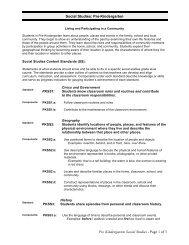 Pre-Kindergarten Pre Kindergarten Social Studies - DoDEA
