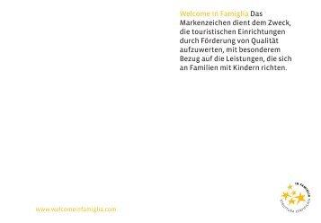 Katalog 2011 der ausgezeichneten Betriebe - in Famiglia