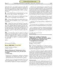 Régime pédagogique de l'éducation préscolaire, de l ... - Quebec