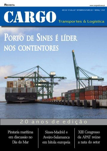 Porto de SineS é líder noS contentoreS - Cargo