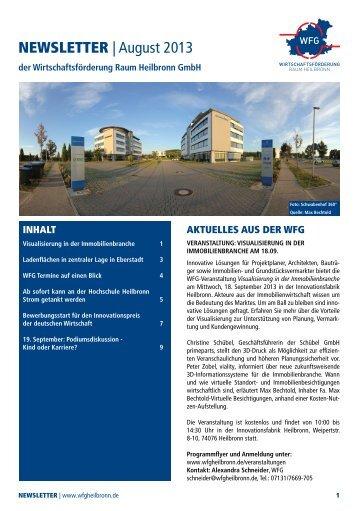 NEWSLETTER | August 2013 - Wirtschaftsförderung Heilbronn