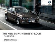 THE NEW BMW  SERIES SALOON. - Invelt