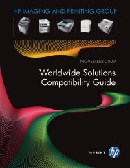 Worldwide Solutions Compatibility Guide - HP