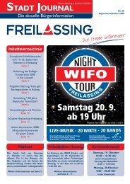 Samstag 20. 9. ab 19 Uhr - Stadt Freilassing