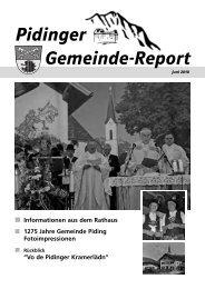 Pidinger Gemeinde-Report - Gemeinde Piding