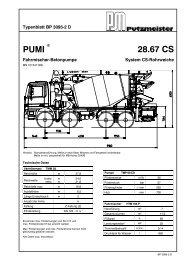 Truck-mounted BRF 42.14 H concrete pump .16 H .16 H LS
