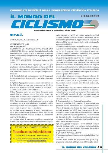 da oggi e' anche partner del ciclismo - Federazione Ciclistica Italiana