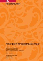 Akkordtariff for Byggtapetserfaget
