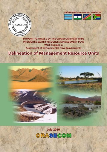 Delineation of Management Resource Units ... - ORASECOM