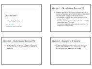 Esercitazione 1 Quesito 1 – Modellazione Processi SW ... - DMI