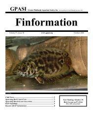 October - Greater Pittsburgh Aquarium Society