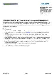 LANTIME M300/GPS: NTP Time Server with ... - TR instruments